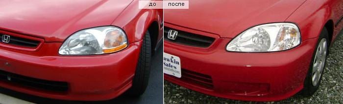 Honda Civic 6 передние фары
