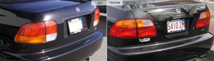 Задние фонари Honda Civic 6 Sedan