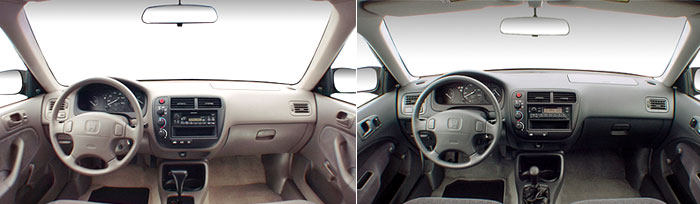 Honda Civic 6 - обзор салона