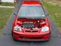 Honda Civic EK Shaving Hood Space