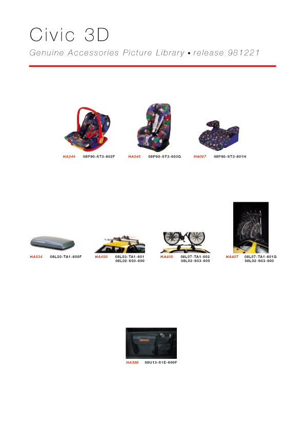 Honda Civic 3D Genuine Accessories Catalog - page 06