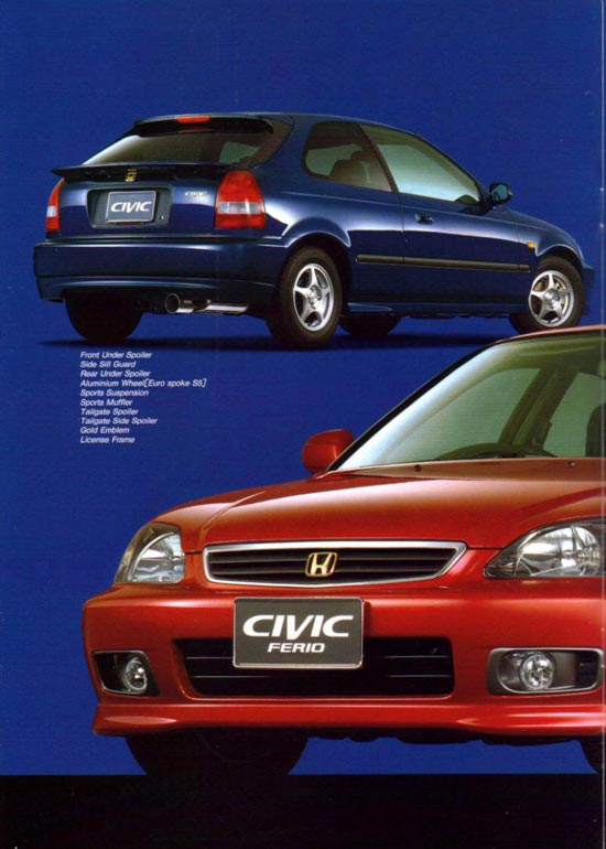 Original Accessories Catalog: Honda Civic EK & Honda Civic Ferio