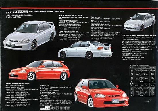 Mugen Power Catalog: Honda Civic EJ7