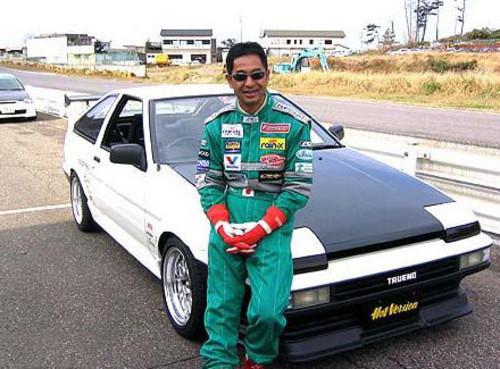 Keiichi Tsuchiya и его Toyota Sprinter TRUENO AE86