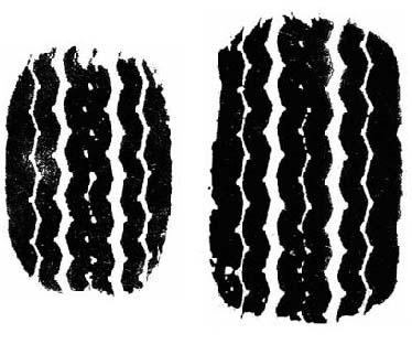 Пятно контакта шины