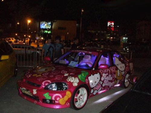 Hello Kitty Honda Civic