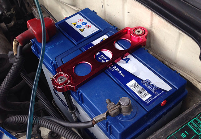 Password:JDM Battery Tie Down install
