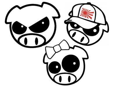 Subaru Pig Set