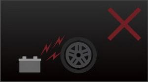 Не храните автомобильные колеса рядом с источниками электричества