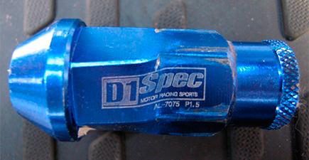 Облегченные (легкосплавны) колесные гайки D1 Spec