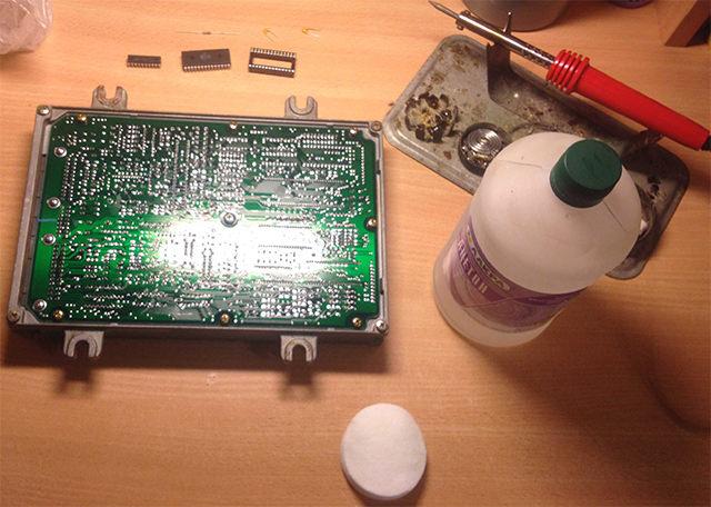 Подготовка к чиповке мозга 37820-p28 Honda