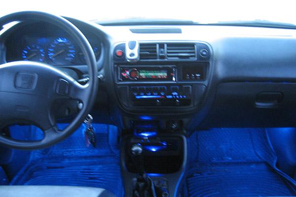 Honda Civic неоновая подсветка салона