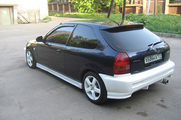 Honda Civic задний бампер Buddy Club 2