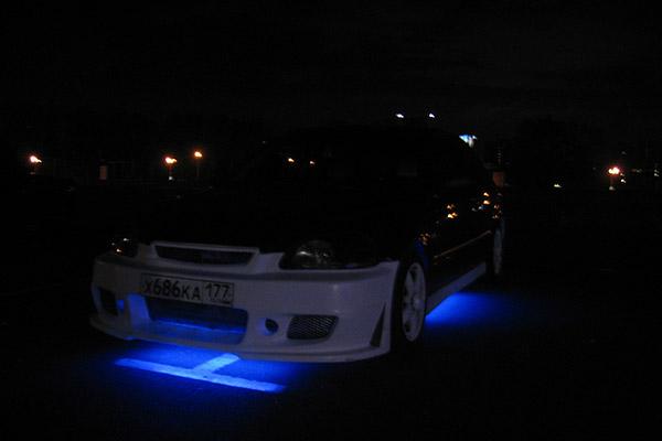 Honda Civic EK неоновая подсветка переднего бампера