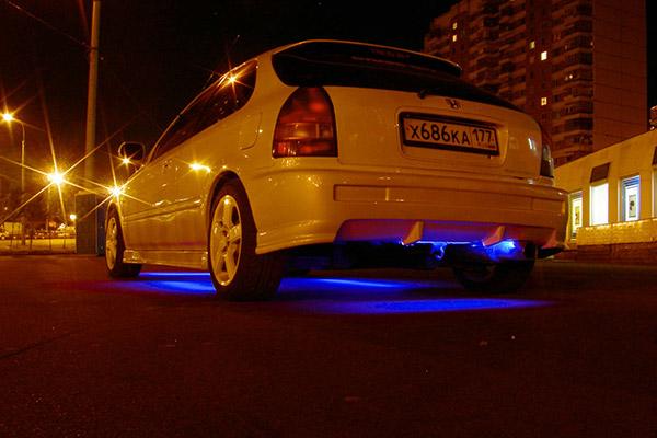 Ночные фото автомобиля