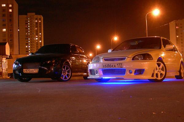 Honda Civic EK3 - ночные фото авто