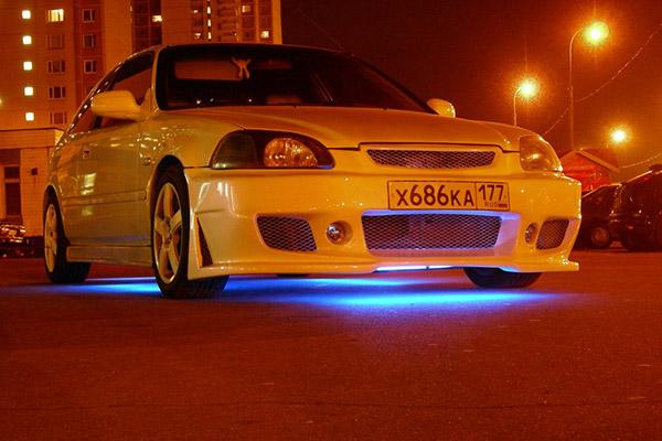 Honda Civic подсветка днища неоновая