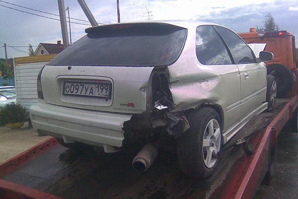 Honda Civic Crash