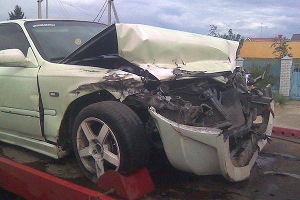 Civic EK3 Crash