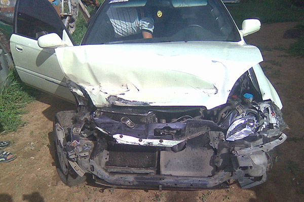 Honda Civic EK3 hatch Crash