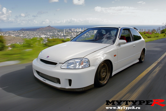 Civic EK9 on road