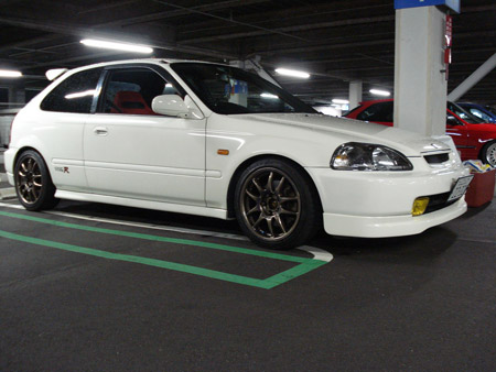 Championship White (NH-0) Honda Civic EK9