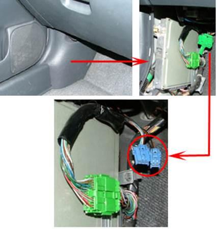 Где находится диагностический разъем у Honda Civic ? - diagnostic-honda.jpg