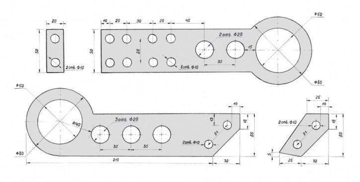 Четрежи запчастей для тюнинга HandMade Honda Parts  - Tow-Hook-JDM-drawing.jpg