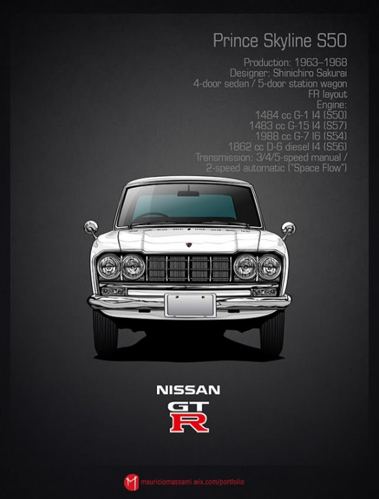 Эволюция Nissan Skyline GT-R в картинках - 03-Prince-Skyline-S50.jpg