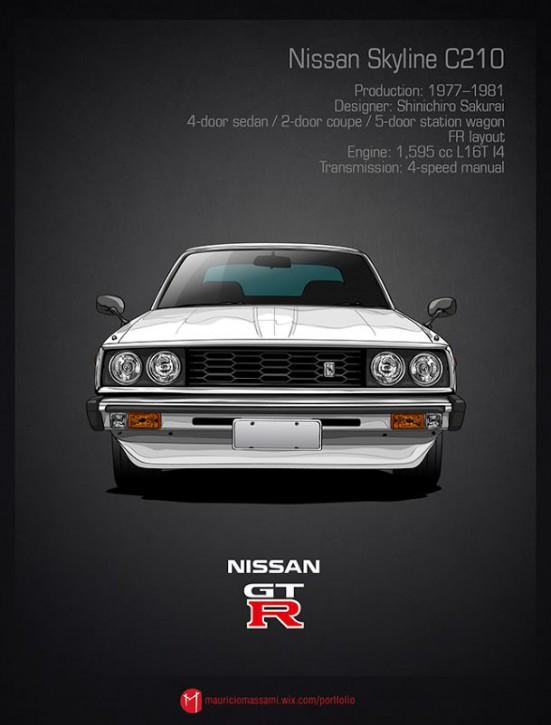 Эволюция Nissan Skyline GT-R в картинках - 06-Nissan-Skyline-C210.jpg